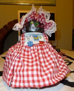 Stompa in Gingham Dress